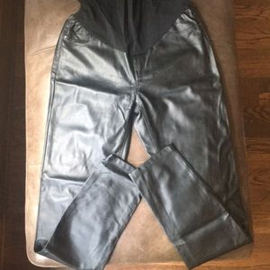 Maternity leather look pants